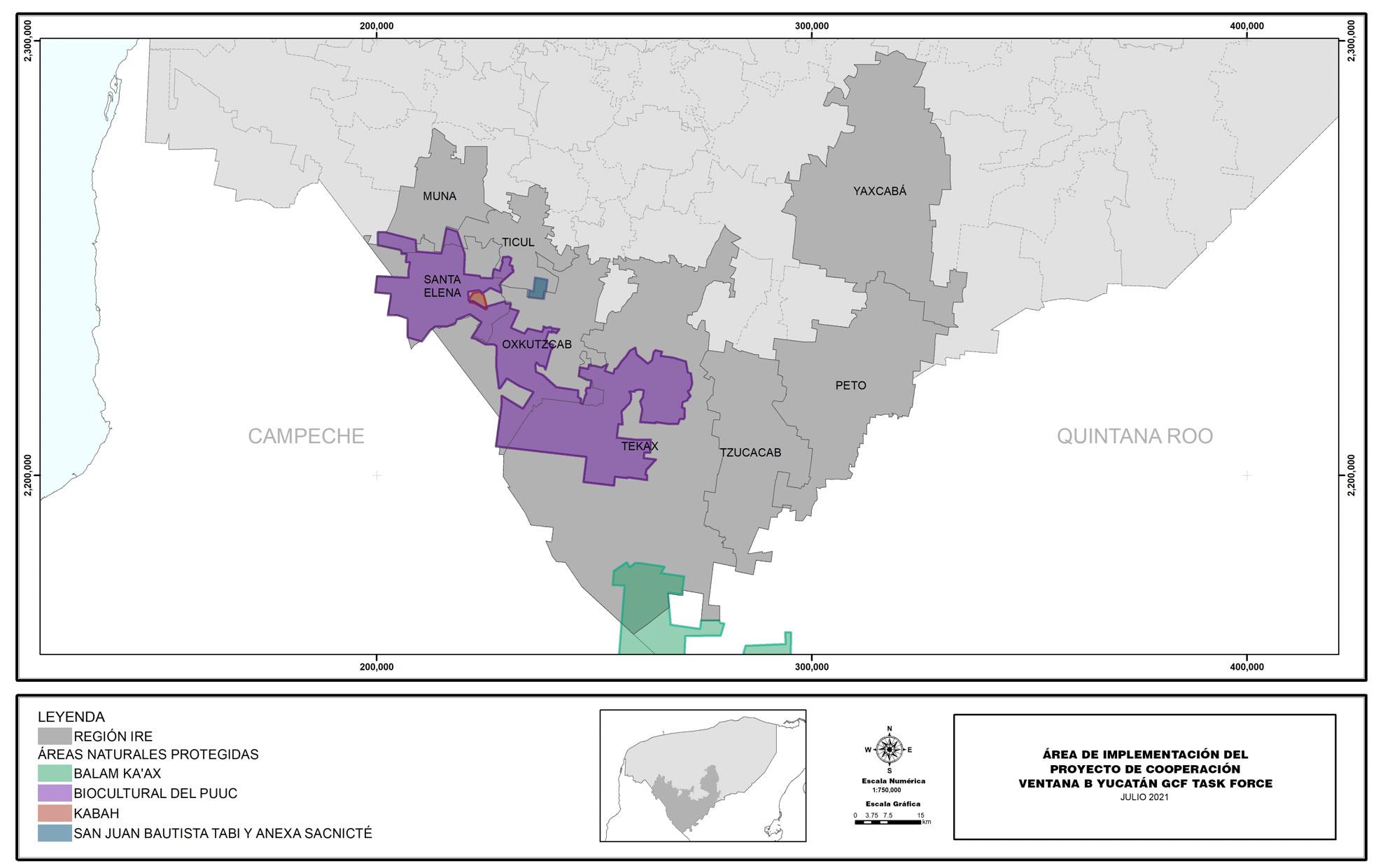 Mapa: área de intervención del proyecto